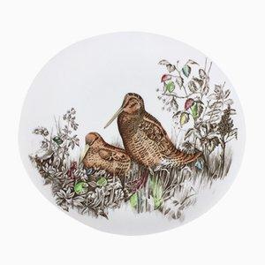 Piatto ovale in porcellana dipinta a mano di Jonhson Brothers, Regno Unito, anni '60