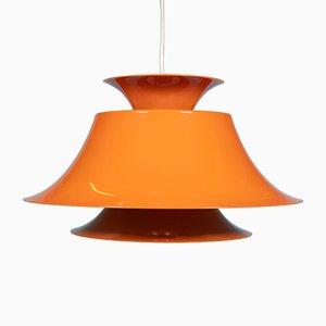 Orangefarbene Mid-Century Radius Deckenlampe von Erik Balslev für Fog & Mørup
