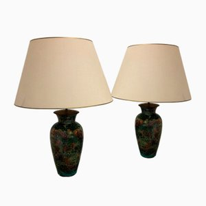 Vintage Table Lamps from Laque Line, 1970s, Set of 2