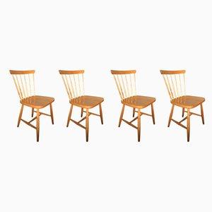 Chaises de Salon de Hagafors Stolfabrik AB, années 50, Set de 4