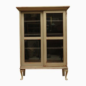 Antique Grey Display Cabinet