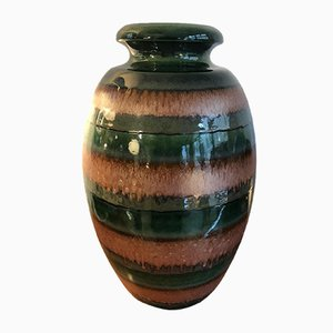 Large German Glazed Ceramic Vase, 1970s