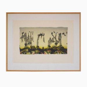 Lithographie Tour Eiffel Vintage par Pol Bury, 1991