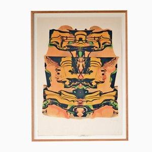 Litografía Guggenheim vintage de Pol Bury, 1991