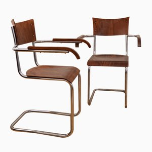 Vintage Armchairs by Robert Slezak, Set of 2