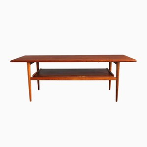 Mid-Century Danish Teak & Oak Coffee Table, 1960s