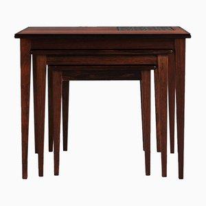 Tavolini ad incastro Mid-Century in palissandro di Kvalitet Form og Funktion, Danimarca, anni '60