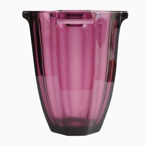 Vase en Verre Améthyste de Rudolfova Hut, années 30