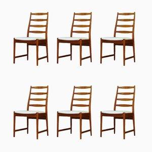 Chaises de Salon en Teck de Vamø, années 60, Set de 6