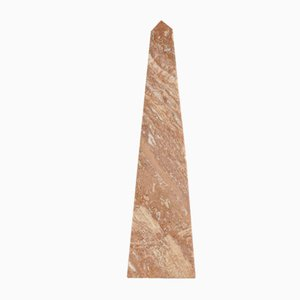 Red Travertine Obelisk from Fratelli Mannelli, 1970s