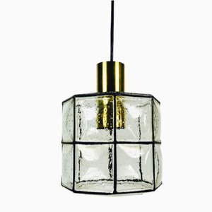 Iron and Glass Ceiling Lamp from Limburg, 1960s