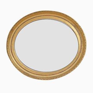 Specchio a muro vittoriano dorato, metà XIX secolo