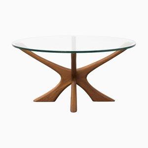 Tavolino da caffè vintage in teak di Illum Wikkelsø per Niels Eilersen, anni '60