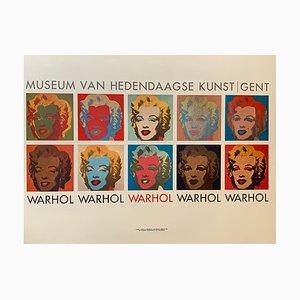 Póster de exposición de Andy Warhol vintage de Grafiche Volpini, años 70