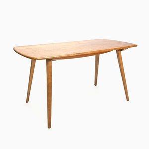 Table de Salle à Manger Plank Vintage en Orme par Lucian Ercolani pour Ercol, années 50