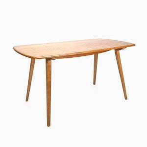 Vintage Elm Plank Dining Table by Lucian Ercolani for Ercol, 1950s