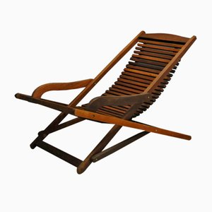 Vintage Scandinavian Teak Rocking Chair, 1960s