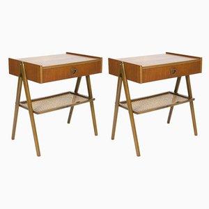Tables de Chevet Mid-Century, Suède, années 50, Set de 2