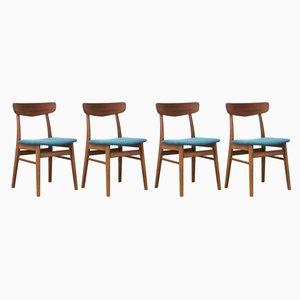Vintage Beech & Teak Dining Chairs from Farstrup Møbler, 1960s, Set of 4