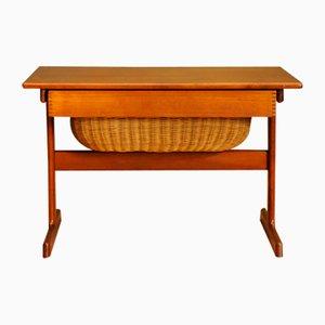 Mesa de costura danesa vintage, años 60