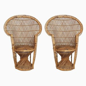 Mid-Century Children's Rattan Chairs by Gio Ponti, Set of 2