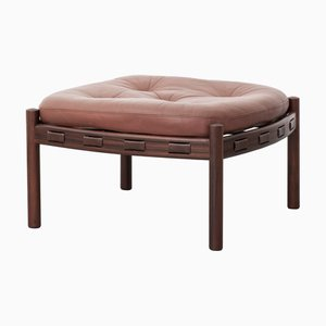 Vintage Rosewood Model 925 Ottoman by Arne Norell for Coja, 1960s