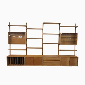 Large Danish Wall Unit by Poul Cadovius for Cado Royal System, 1960s