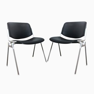 106 DSC Desk Chairs by Giancarlo Piretti for Castelli / Anonima Castelli, 1960s, Set of 2