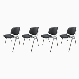 106 DSC Desk Chairs by Giancarlo Piretti for Castelli / Anonima Castelli, 1960s, Set of 4