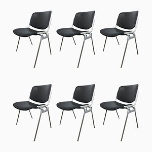106 DSC Desk Chairs by Giancarlo Piretti for Castelli / Anonima Castelli, 1960s, Set of 6