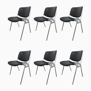 106 DSC Desk Chairs by Giancarlo Piretti for Castelli / Anonima Castelli, 1960s, Set of 6