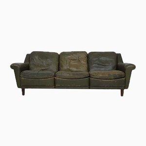 Canapé en Cuir Vert, années 50