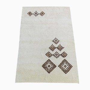 Tappeto vintage in lana annodato a mano, Marocco, anni '70