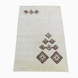 Vintage Moroccan Wool Hand-Knotted Carpet, 1970s