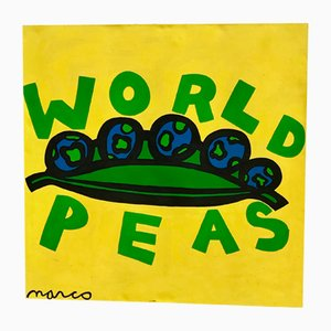 Pop Art World Peas Painting by Marco