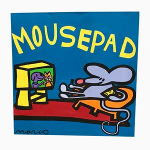 Pop Art Mouse Pad Painting by Marco