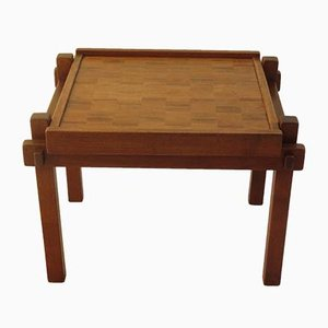 Vintage Teak & Rosewood Game Table, 1960s