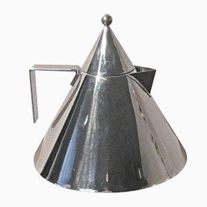 Tetera Conico posmoderna de acero inoxidable de Aldo Rossi para Alessi, años 80