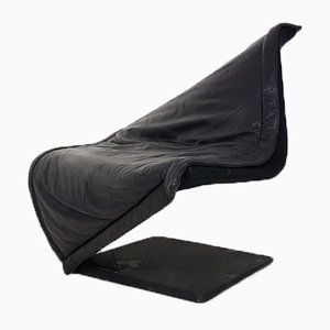 German Leather Flying Carpet Lounge Chair by Simon Desanta for Rosenthal, 1980s