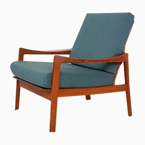 Danish Teak Green Armchair, 1960s