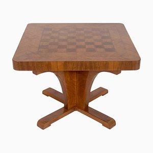 Vintage Spieltisch mit Intarsien, 1920er