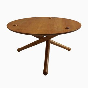 Vintage Ash Tripod Coffee Table, 1970s