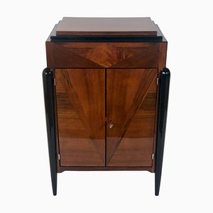 Art Deco Walnut Inlaid Cabinet, 1920s