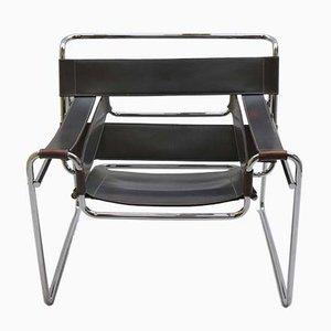 Vintage Wassily Armlehnstuhl von Marcel Breuer für Knoll, 1980er