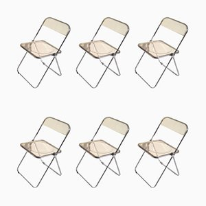 Yellow Plia Folding Chairs by Giancarlo Piretti for Castelli, 1967, Set of 6