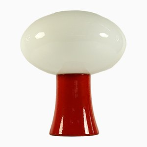 Mid-Century Ceramic & Glass Model 4198 Table Lamp from Kaiser Leuchten