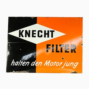 Vintage Industrial Knecht Filters Sign, 1950s