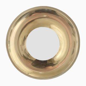Vintage Danish Brass Mirror, 1970s