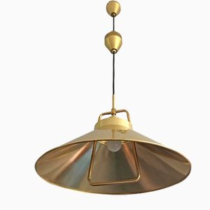 Brass Pendant Lamp by Fritz Schlegel for Lyfa, 1960s