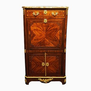 Antique Louis XVI Rosewood & Marquetry Secretaire